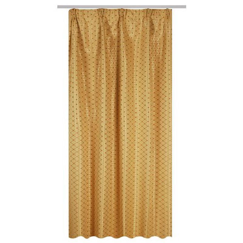 Штора на ленте «Глория» 200х260 см цвет золотой