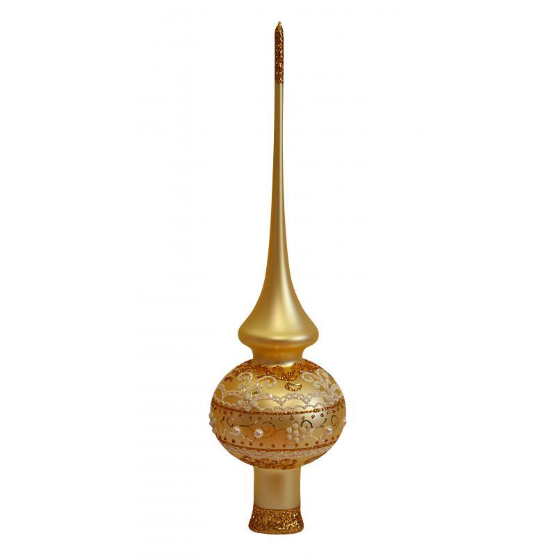 Верхушка для ёлки «Золотой узор», 28 см