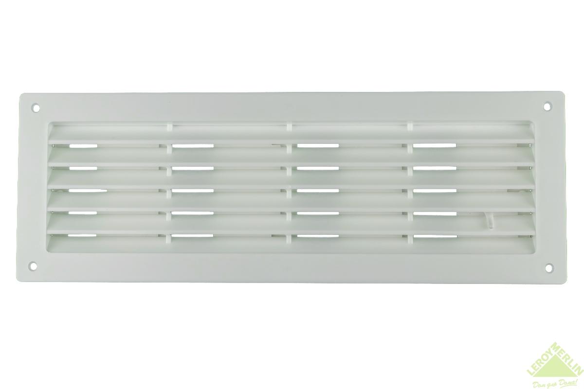 Решетка дверная вентиляционная, регулируемая, 344x108 мм