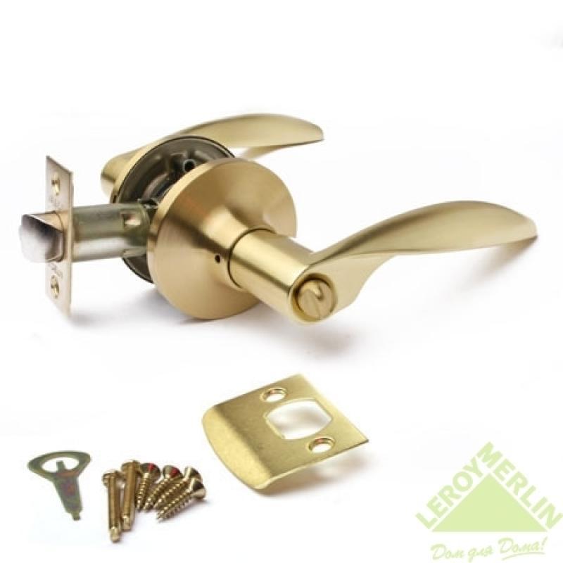 Ручка-защёлка межкомнатная Apecs 8020-03-GM (золото матовое)