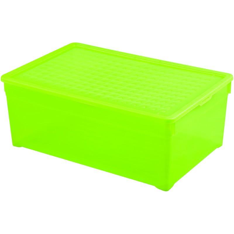 Контейнер Curver Textille прозрачный зеленый, 45 л