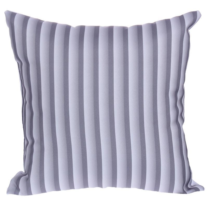 Подушка декоративная «Полосы», 40х40 см, цвет серый