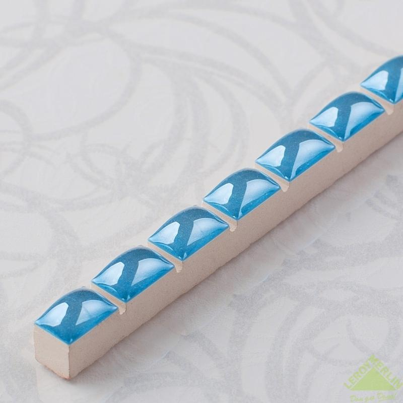 Бордюр «Капсула люстрированная» 0.7х25 см цвет синий
