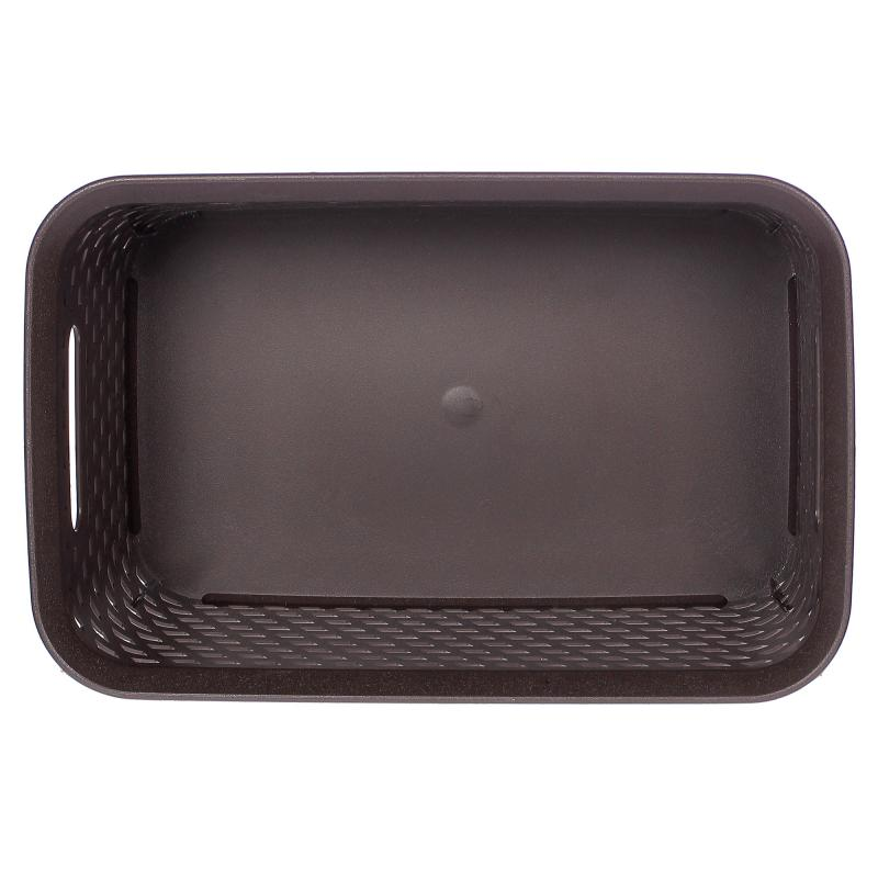 Корзина для хранения «Ротанг», 4 л, 28х18.5х12.6 см, цвет коричневый