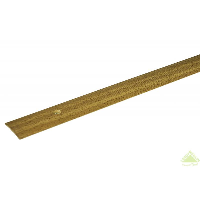 Порог алюминиевый Стык-163 акация, 1000x28 мм