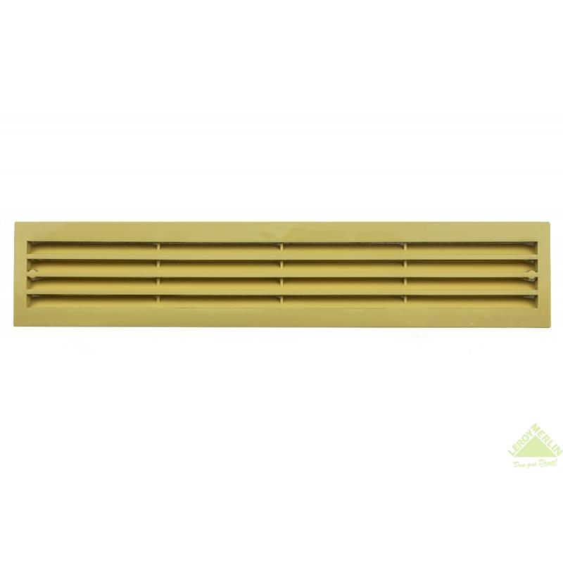 Решетка дверная вентиляционная 453x91/2 мм, цвет бежевый