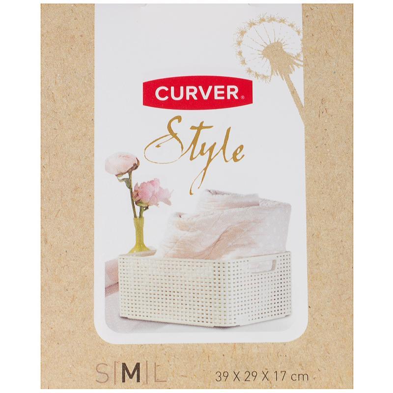Корзинка Curver Style 38.6x28.7x17 см пластик цвет коричневый