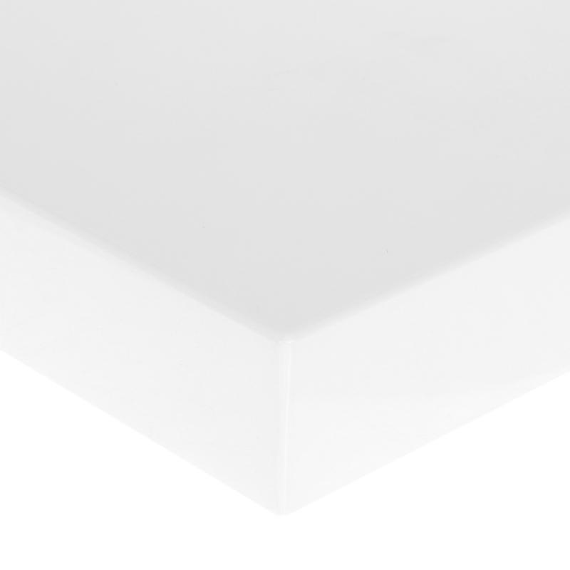 Полка для ванной комнаты 40х20 см цвет белый глянец
