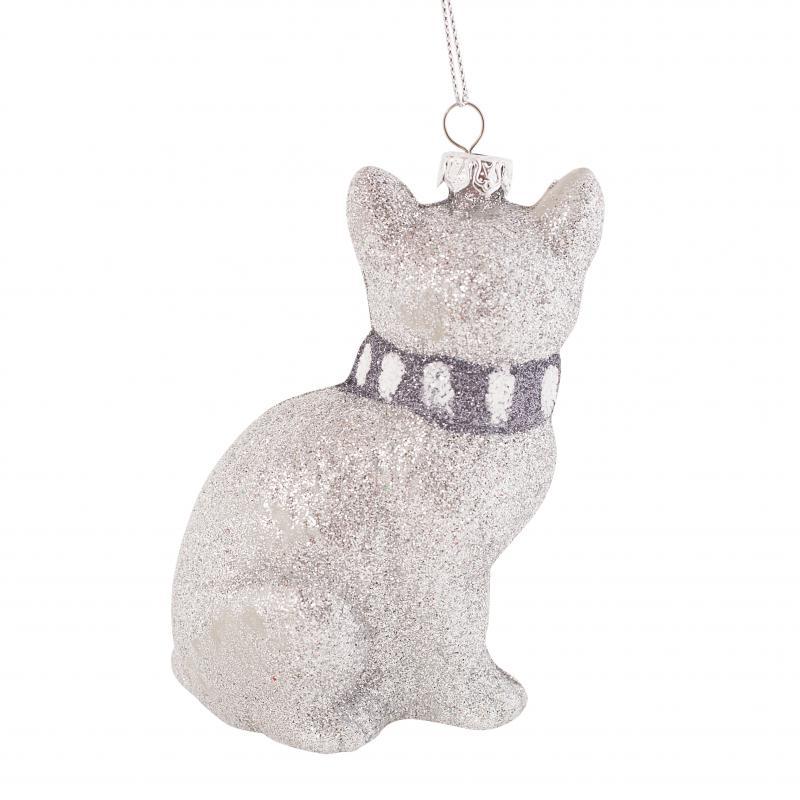 Украшение ёлочное «Снежная кошка», 10 см