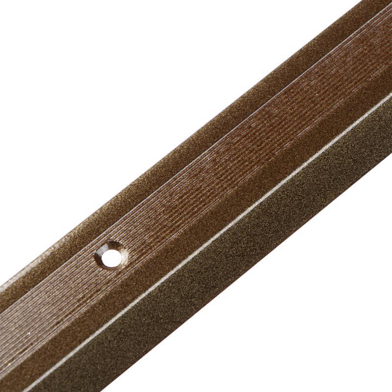 Порог разноуровневый алюминиевый, цвет медь, 100x3 см
