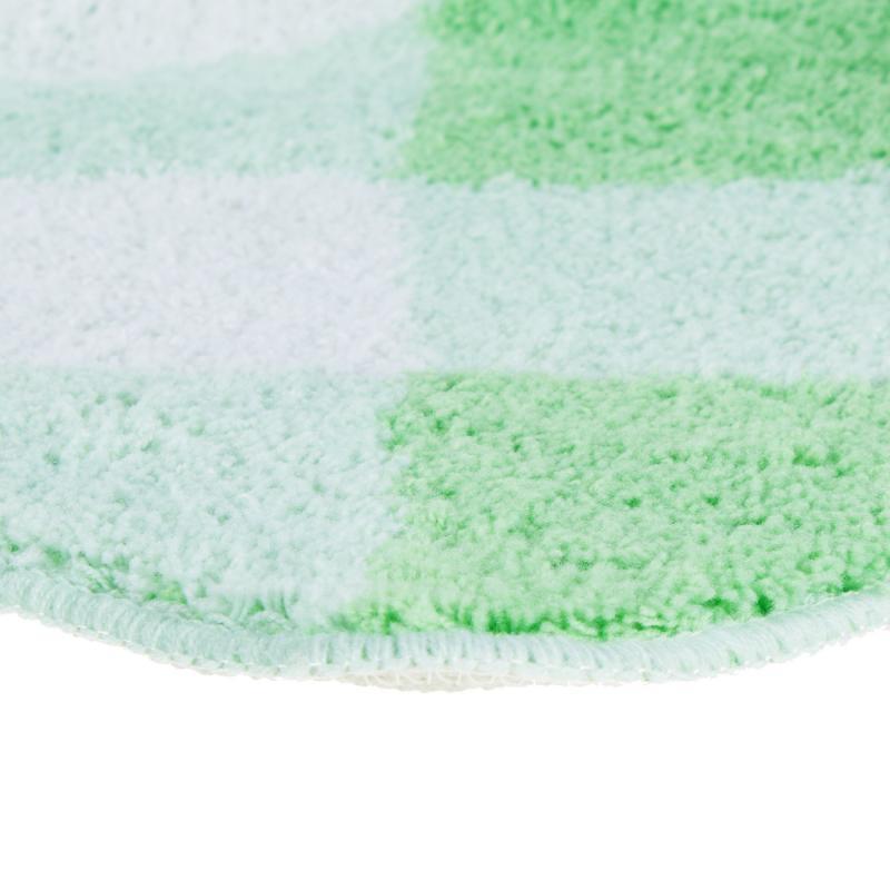 Коврик для ванной комнаты Эврика, 60х90 см, полиакрил, цвет зелёный