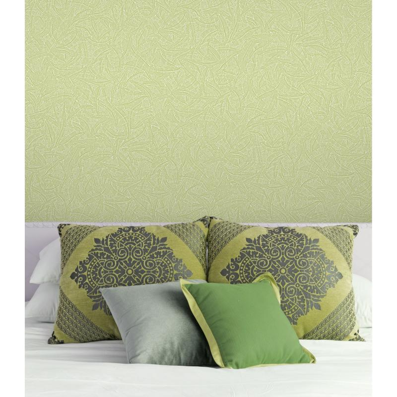 Обои на флизелиновой основе 1.06х10 м цвет зелёный АС Пал 70051-17