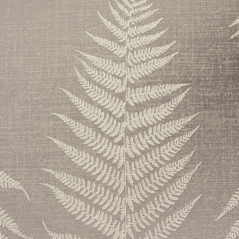 Ткань 1 п/м «Папоротник», жаккард, 300 см, цвет серый