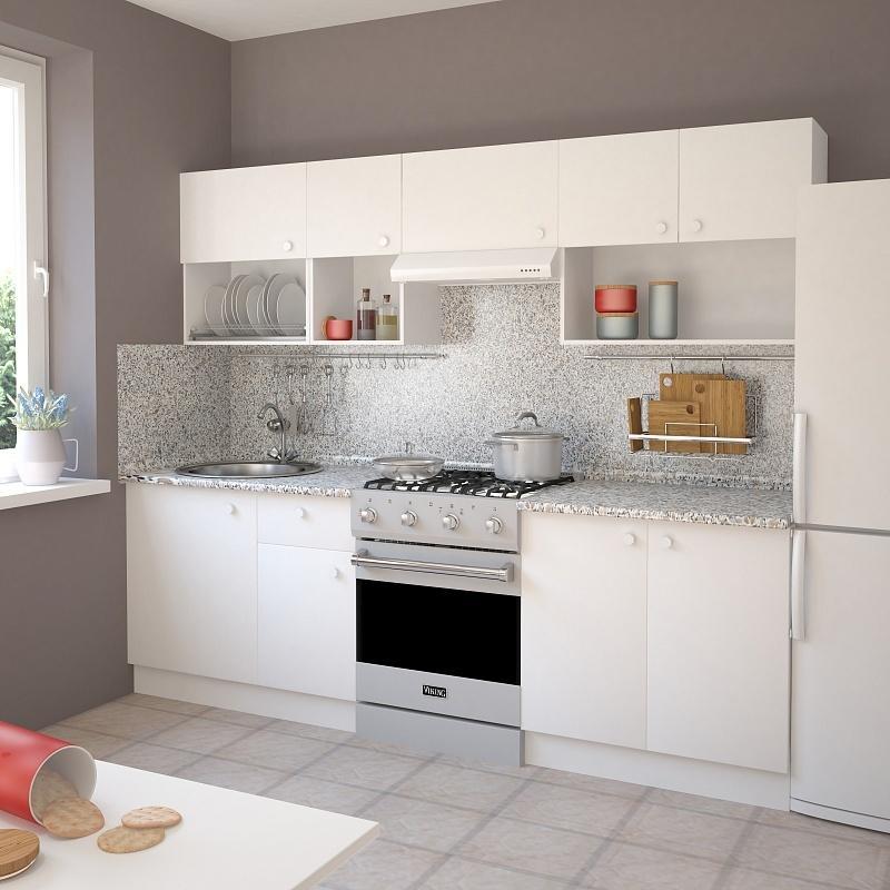 Шкаф навесной «Бьянка Ал» с фасадом 80 см, цвет белый