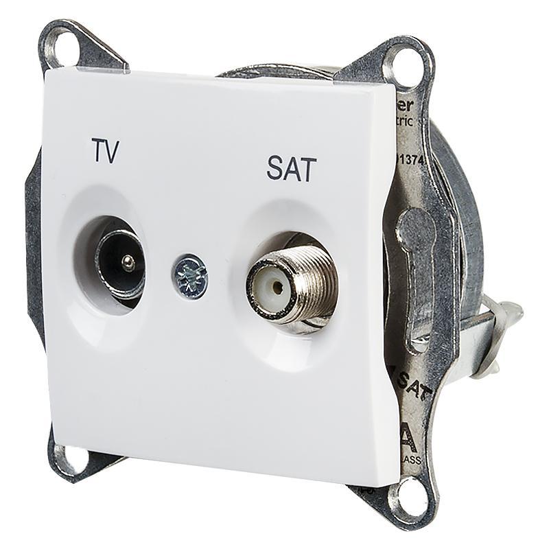 ТВ розетка Sedna TV/SAT оконечная, цвет белый