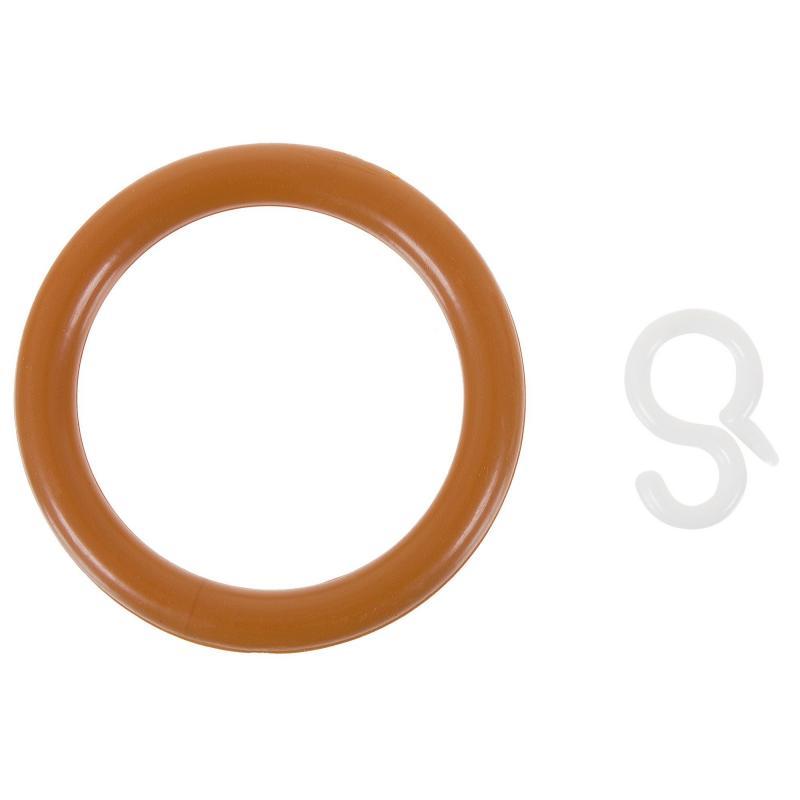 Кольцо пластик цвет черешня с крючоком 4 шт.