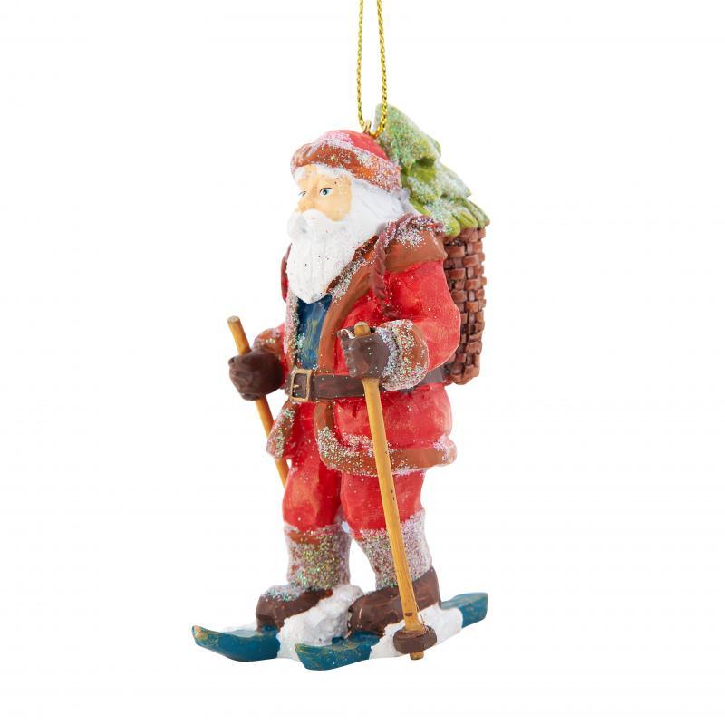 Украшение ёлочное «Санта на лыжах», 11 см
