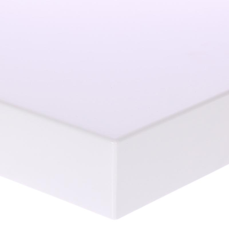 Полка для ванной комнаты 60х20 см цвет белый матовый