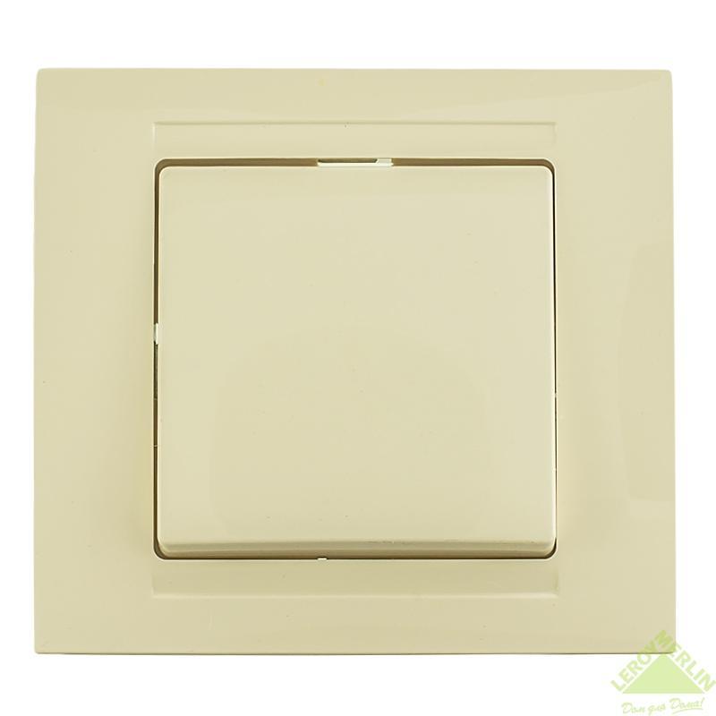 Выключатель Gunsan Moderna 1-клавишный, белый