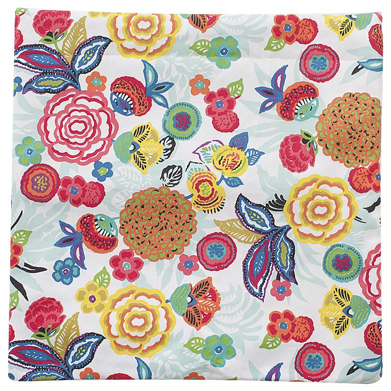 Наволочка Шалимар, цветы, декоративная, 40х40 см