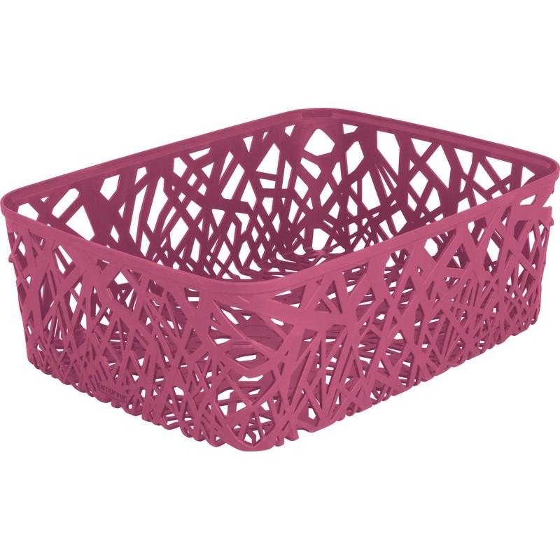Корзинка прямоугольная Curver Neo розовая
