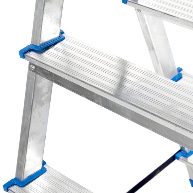 Стремянка алюминиевая двусторонняя 4 ступени