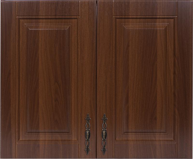 Шкаф навесной «Орех Ал» с фасадом 80 см, цвет орех