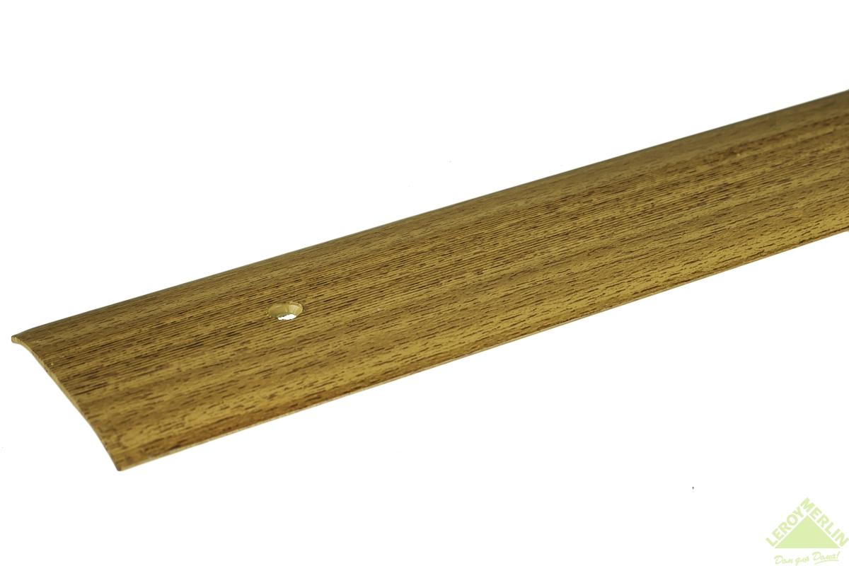 Порог алюминиевый Стык-348 акация, 1000x60 мм