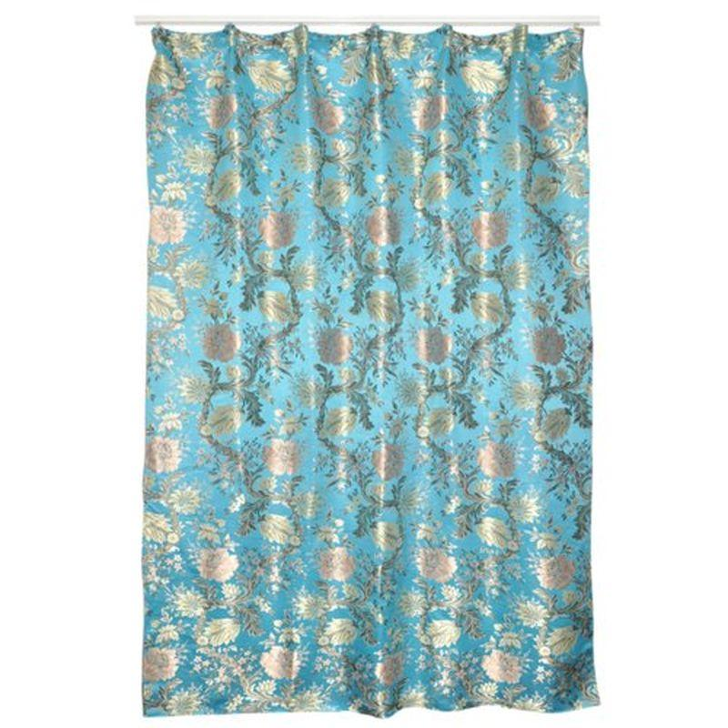 Штора на ленте «Толе» 200х260 см цвет синий
