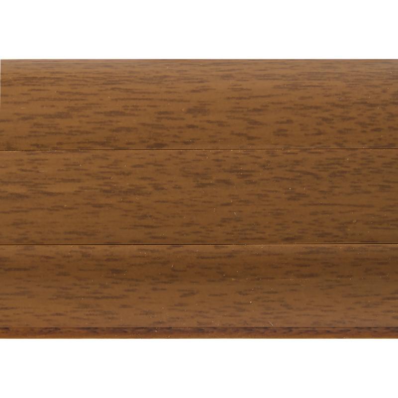 Плинтус напольный T-plast 026 ПВХ 58 мм 2.5 м цвет орех тёмный
