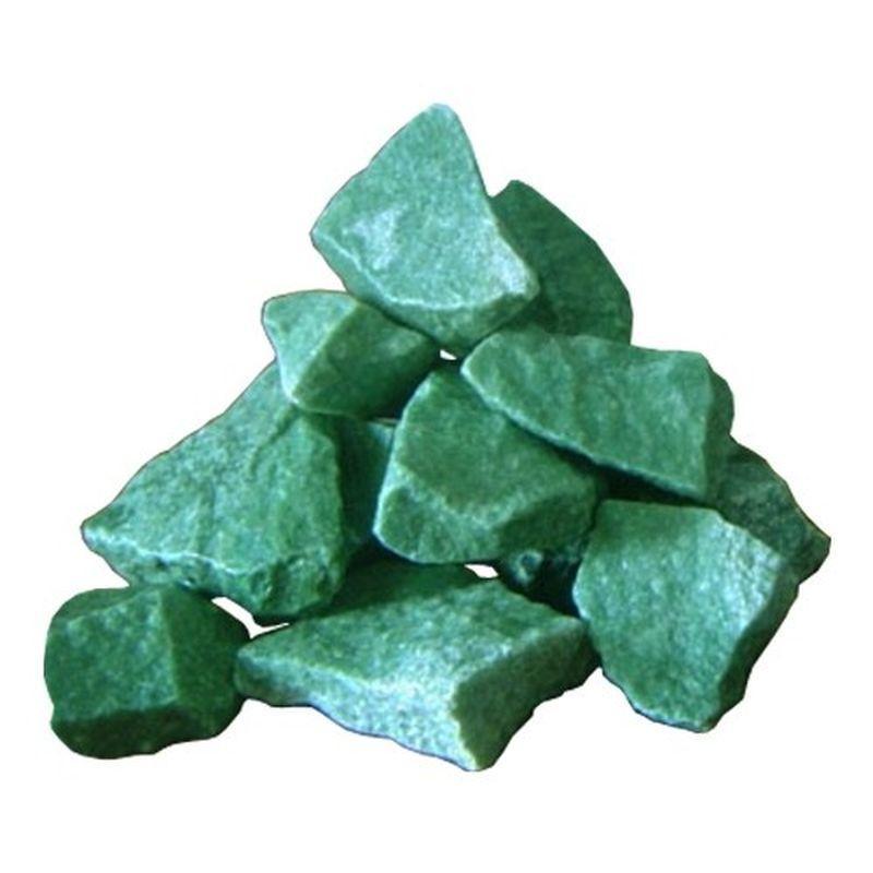 Камни для бани и сауны Жадеит колотый, 10 кг
