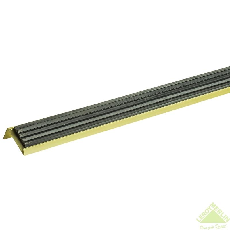 Порог алюминиевый Угол-990 золото, 1000x37,5 мм