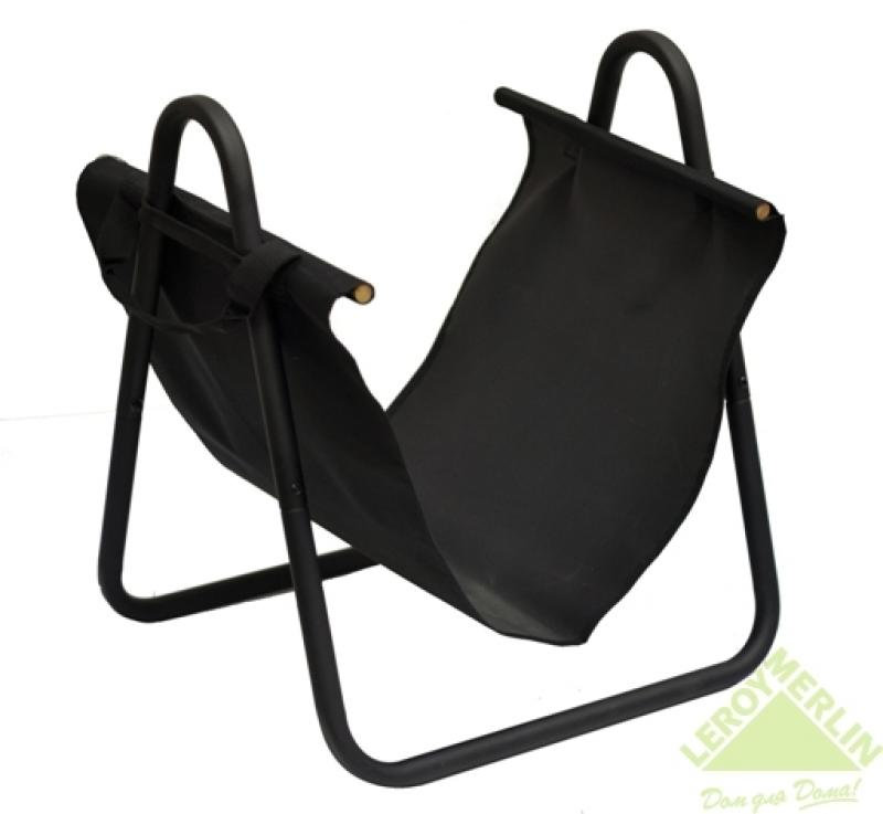 Подставка для дров с сумкой, черная