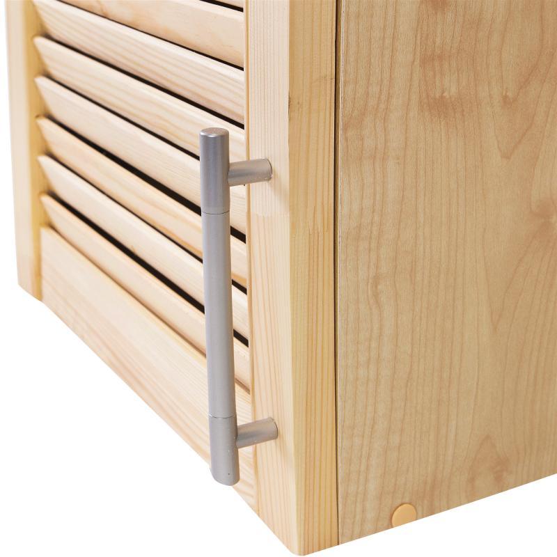 Шкаф навесной «Сосна жалюзи Мо» с фасадом 68х40 см, хвоя/ЛДСП, цвет сосна