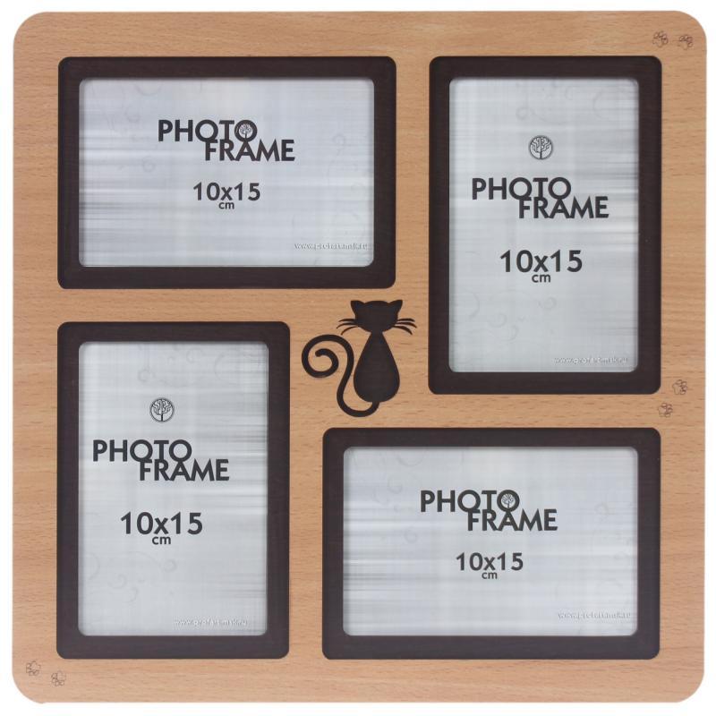 Фотосет «Кошка», 4 фото, размер фото 10х15 см, цвет бук