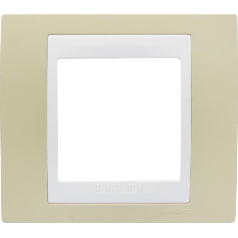 Рамка для розеток и выключателей Schneider Electric Unica 1 пост, цвет зелёное яблоко