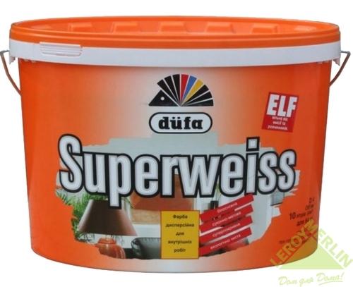 Краска для стен и потолков Dufa Superweiss 10 л цвет белый