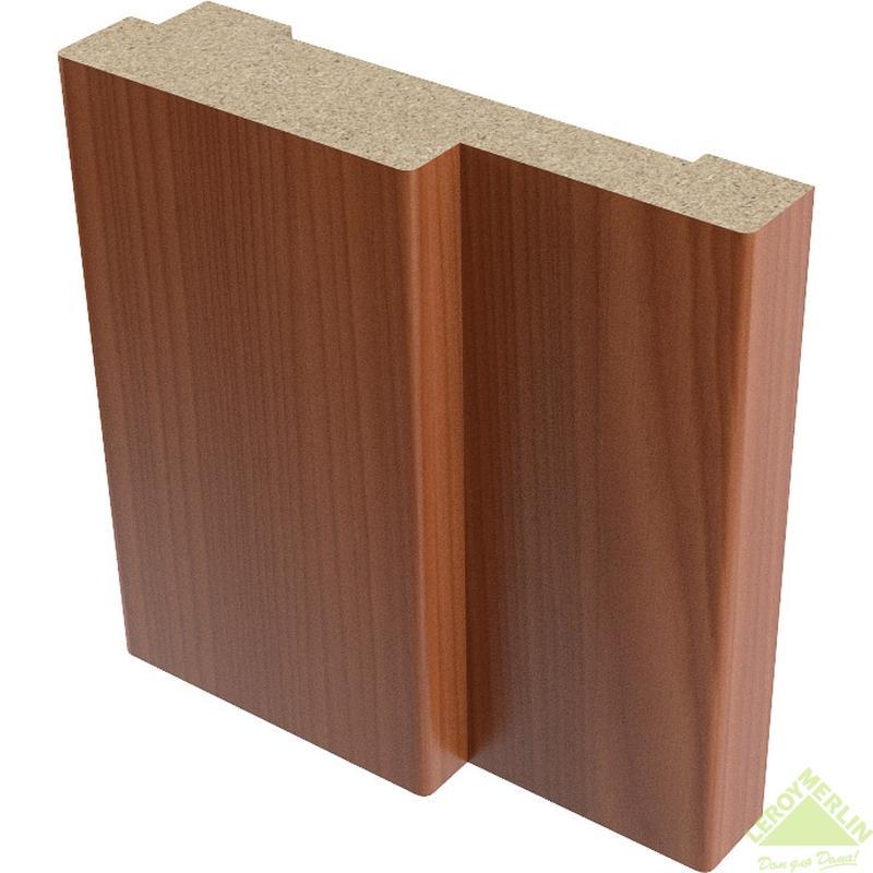 Коробка дверная полукруглая 26x70 мм, ПВХ, итальянский орех