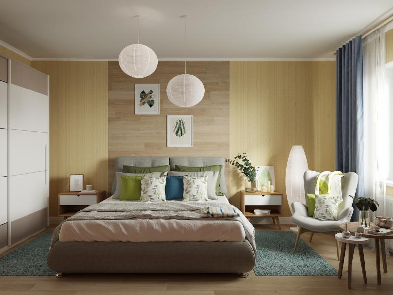 Подушка декоративная, 40х40 см, текстура рогожка, цвет синий