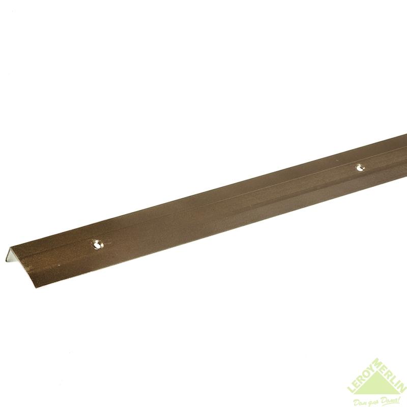 Порог алюминиевый Угол-267 медь, 1000x30x15 мм