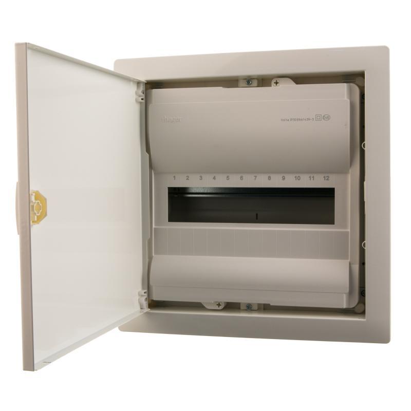 Щит пластиковый с дверью Hager Volta на 12 модулей
