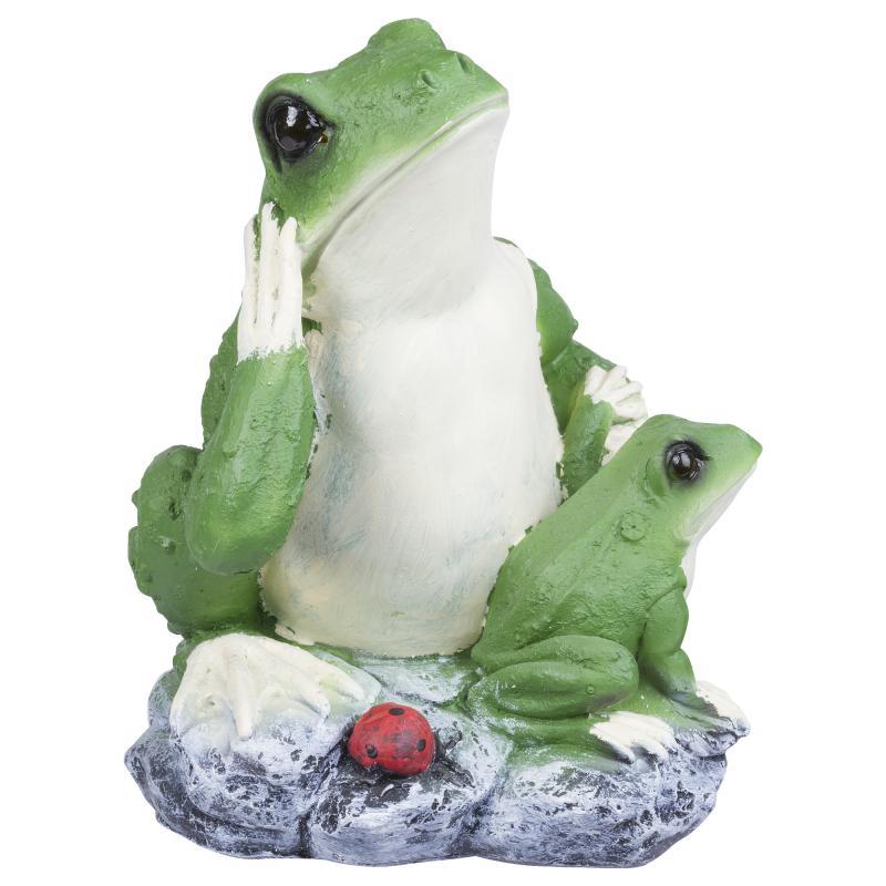 Фигура садовая «Лягушка с лягушонком» высота 30 см
