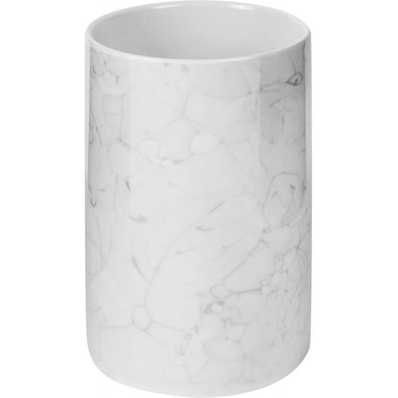 Стакан для зубных щёток «Marmo», керамика, цвет белый