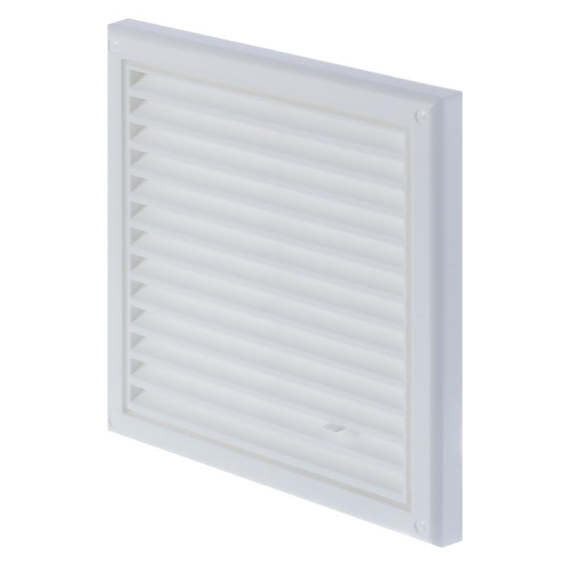 Решетка вентиляционная Вентс МВ 120 Рс, 186x186 мм, цвет белый