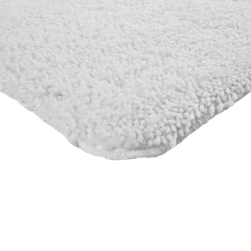 Коврик для ванной комнаты «Shaggy» 70х100 см цвет белый