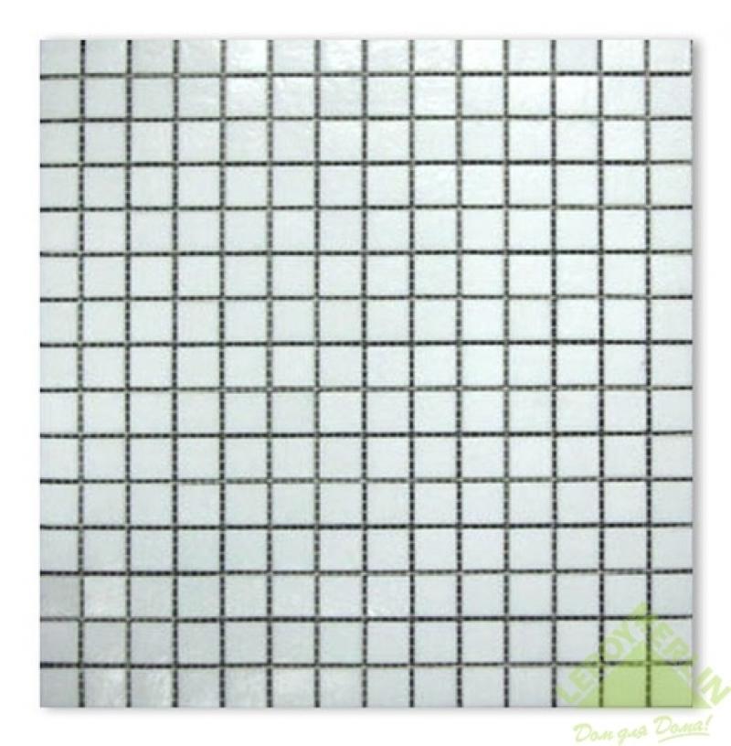 Мозаика стеклянная A01, белая, 32,7х32,7 см, 1,07 м2