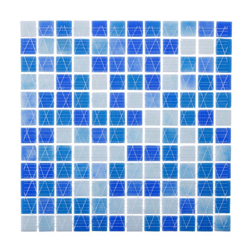 Мозаика Vidrepur № 403, 31.7х31.7 см, стекло, цвет голубой