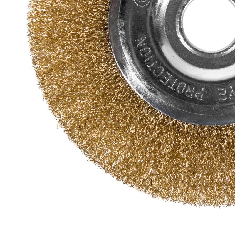 Щетка для УШМ дисковая Dexter 150 мм латунная