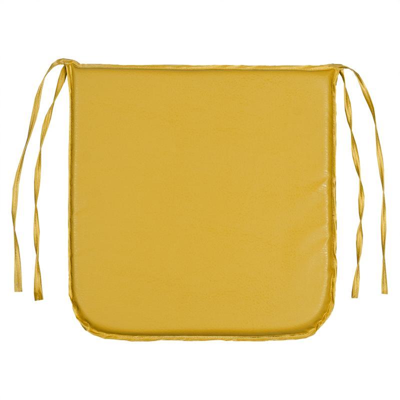 Подушка декоративная для стула «Дача» 35х35 см цвет жёлтый