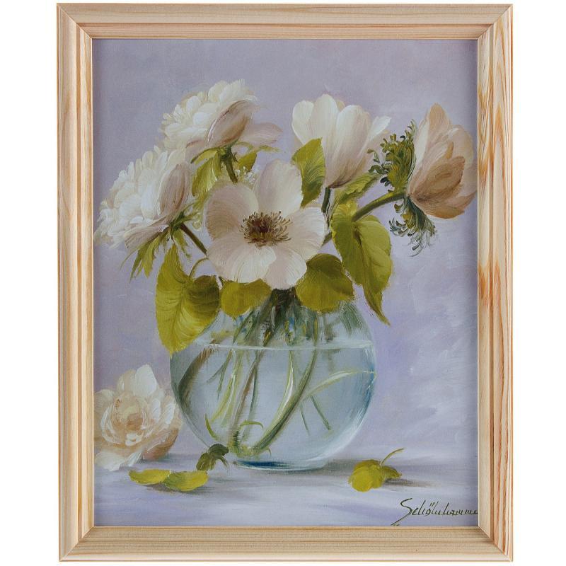 Постер в раме 20х25 см «Цветы»